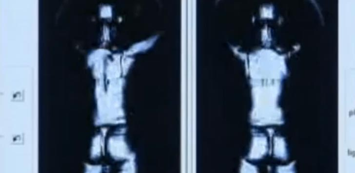 Så här kan bilden från en kroppsskanner se ut. Bild från video.