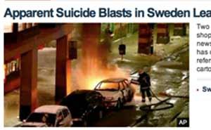 Bombdådet i Stockholm i internationell press (här Fox news)
